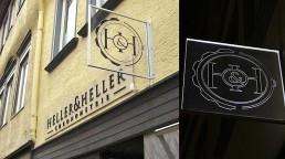 pixelclinic-Aussenwerbung-Montage-Werbebetafel-Profilbuchstaben-Ausleger-LED-Heller-und-Heller-Schwaebisch-Hall