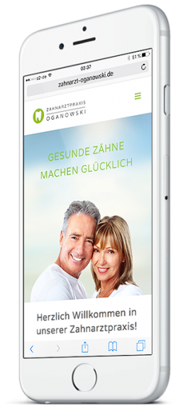 pixelclinic-webdesign-website-responsive-zahnarzt-oganowski-backnang-smartphone